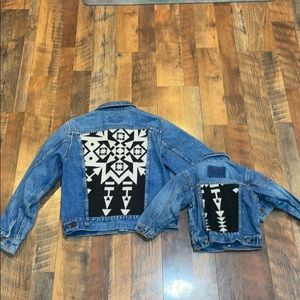 Jean jacket set S & 24 mos (3693)